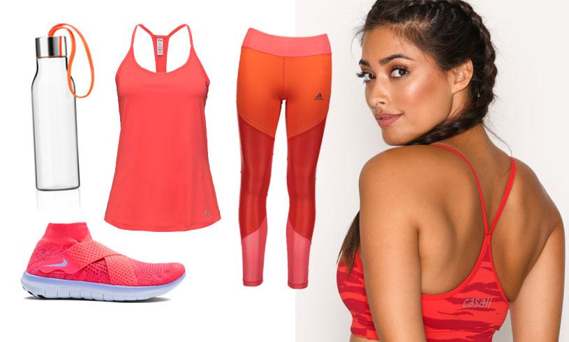 Snyggast på gymmet i höst med 11 glödheta träningsplagg i rött och orange