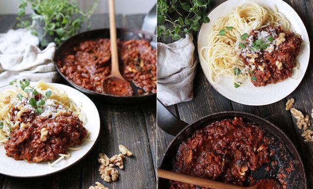 Mustig vegetarisk köttfärsås – för dig som inte gillar vegofärs