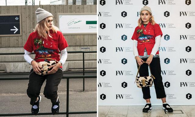Ingrid klädde sig så fult som möjligt på Fashion Week – blev utsedd till en av de bäst klädda