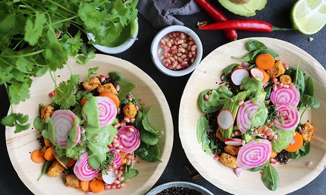 Recept: Trendig vegetarisk buddha bowl fullproppad med protein