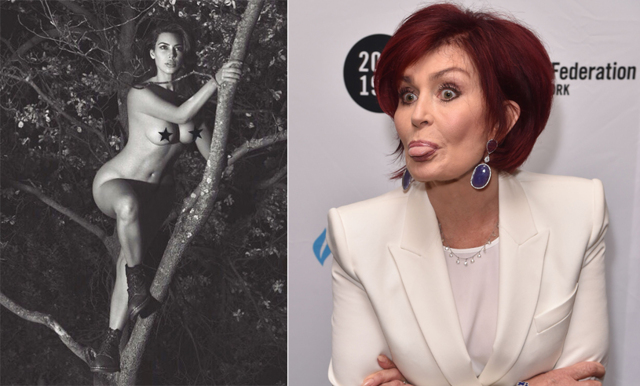 Kim Kardashian välter internet med nakenbild - Sharon Osbourne kallar henne slampa