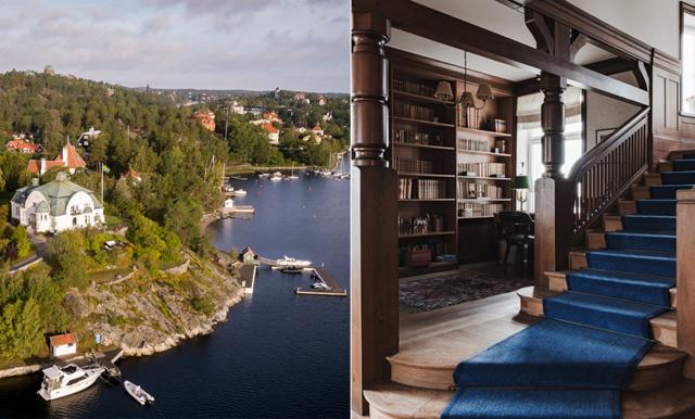 Saltsjöbadens finaste hus (eh slott) kan bli ditt - med tennisplan och egen udde