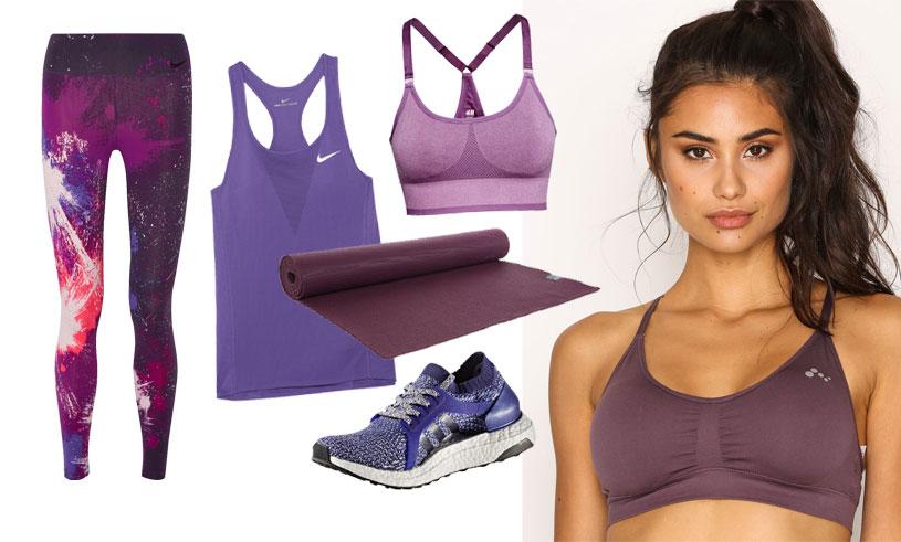 12 lila träningskläder som gör yogaklassen, löprundan och gympasset både roligare och snyggare