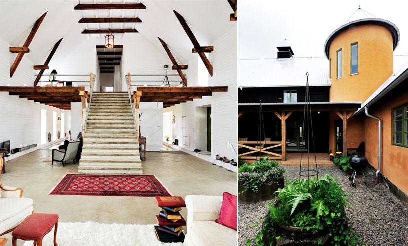 Det gamla stallet fick ett rejält lyft – är nu lyxboende med orangeri, stor veranda och utsiktstorn!