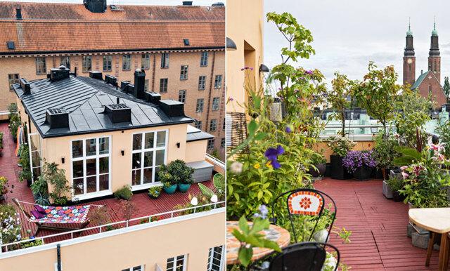 Drömmer du om en egen villa på taket? Kolla in den här unika takvåningen mitt på södermalm