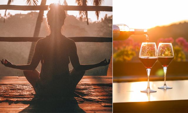 Yoga + vin = SANT i yogaformen som tagit Stockholm med storm