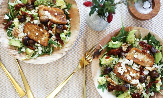 Fyll på med grön energi - enkel zucchinipasta med halloumi
