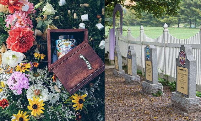 Nu vilar Ben & Jerry's glassmaker som inte längre finns – på en verklig smakkyrkogård