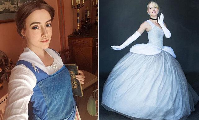 Här är fransyskan som klär ut sig till Disneyprinsessor – så vackert!