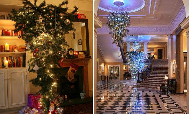 Nya annorlunda jultrenden: Upp- och nervända julgranar gör comeback