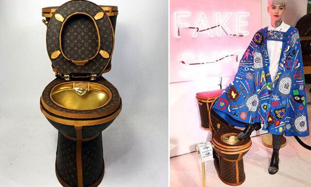 Nu kan du köpa en toalett gjord av 24 äkta Louis vuitton-väskor och den är skitdyr