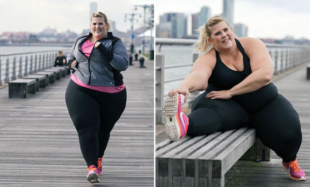 Plus-size modellen frontar sportmärke – blir hånad för sin vikt
