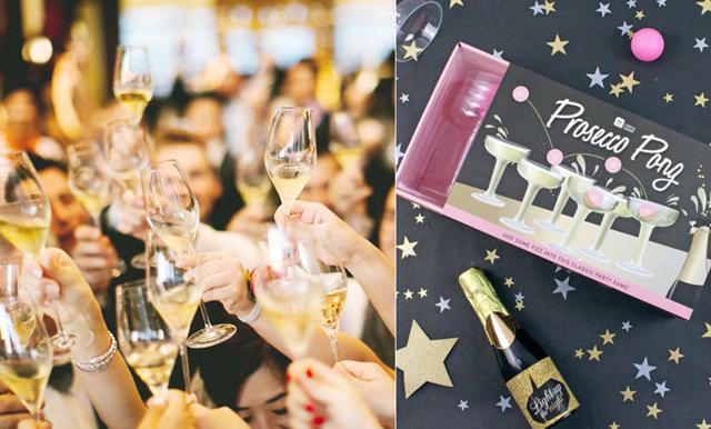 Glöm beer pong på årets fester – vi har hellre bubbel i glaset
