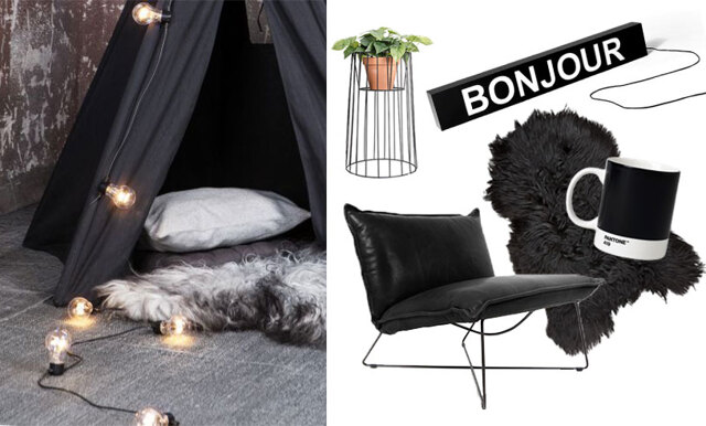15 snygga och stilsäkra inredningsdetaljer i vår favoritfärg svart