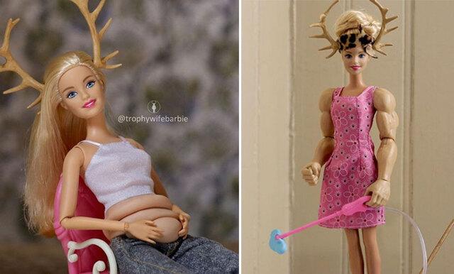 Äntligen en Barbie vi kan relatera till – hon är osminkad, har hängbröst och mens!