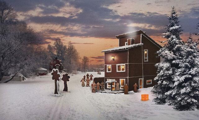 Sista minuten-julklapp – ge bort ett pepparkakshus med hjärterum!