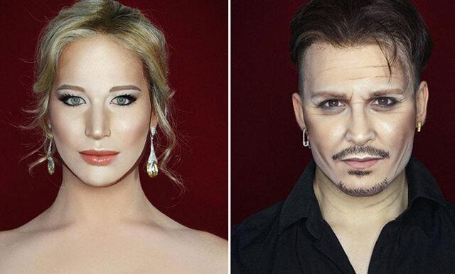 Här är makeupartisten som sminkar sig till olika kändisar (SÅ coolt!)