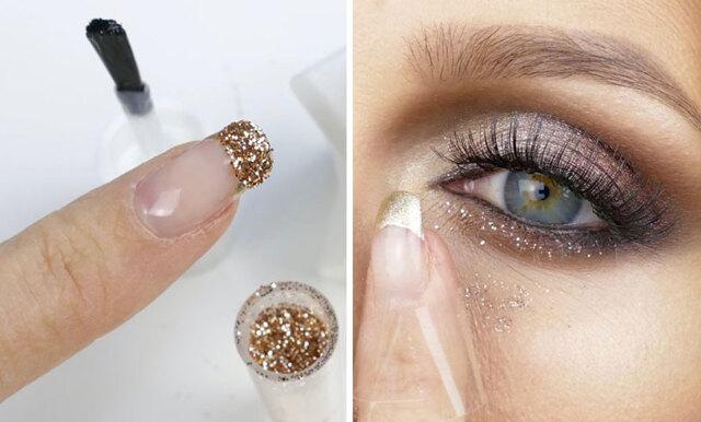 Make Up by Linas stora guide till hur du fäster lösglitter