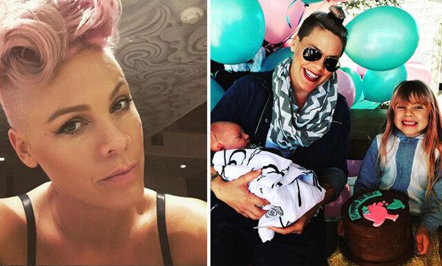 """Pinks peppiga inlägg till mammor världen över: """"Vi måste ge oss själva en paus"""""""