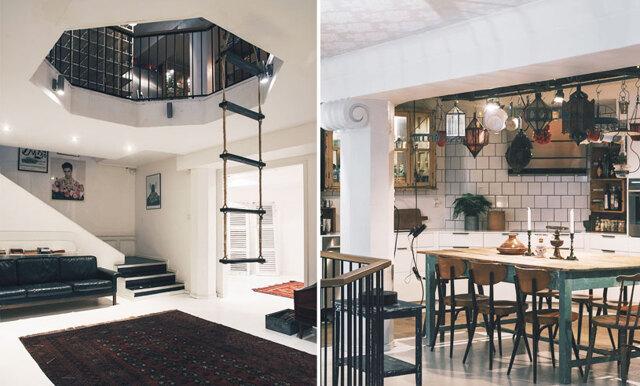 Kolla in den här galna lägenheten mitt i Stockholm – med TRE våningar