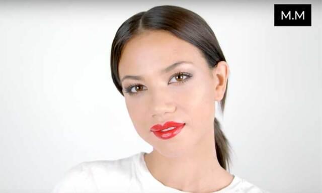 Sminkguide: Vinterns snyggaste makeup med sotade ögon och röda läppar