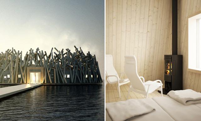 En norrländsk idyll! Det flytande spahotellet får oss att tappa hakan