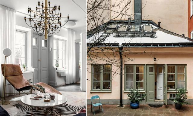 Gårdshuset på Östermalm är en ren dröm – både på utsidan och insidan