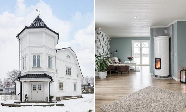Drömmer du om ett tornhus? Kolla in den underbara 20-talsvillan i Växjö