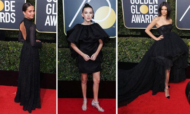 De 15 snyggaste svarta klänningarna från Golden Globe 2018