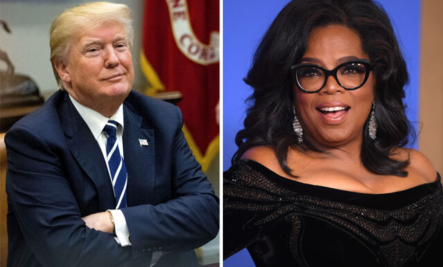 Donald Trump säger att han skulle vinna över Oprah i ett presidentval