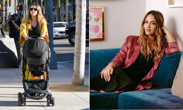 Jessica Albas bild på när hon ammar sin son på jobbet är mamma-goals!