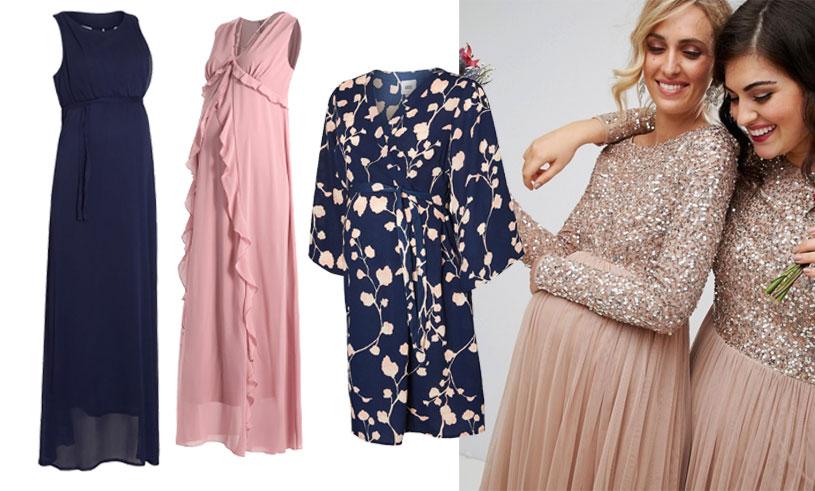 klänning gravid fest