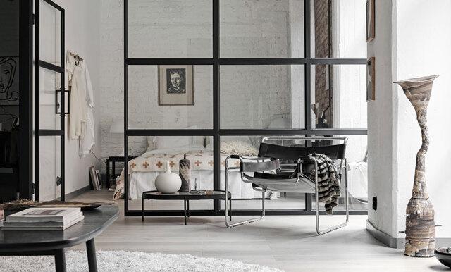 Lägenheten som är en New York-dröm i en kartongfabrik i Göteborg