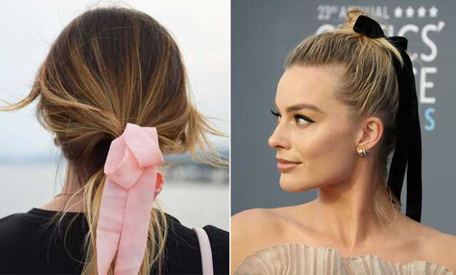 Nya frisyrtrenden – så här stylar du håret med sidenbandet!