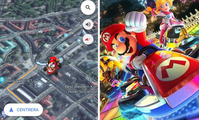 Nu kan du köra Mario Kart i Google maps – så här gör du!