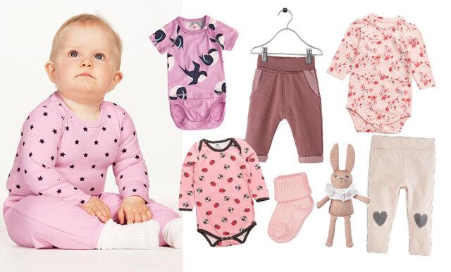 Rosa, blått och gult – här hittar du de sötaste bebiskläderna till den lilla nyfödda!
