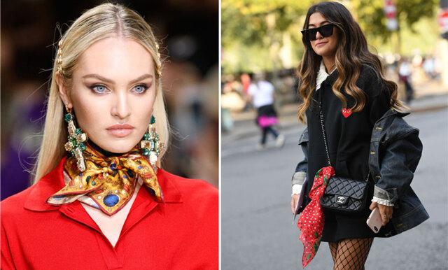 Vårens trendigaste accessoar - så stylar du scarfen på 4 olika sätt