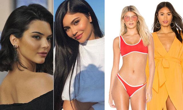 Med färg och snygga detaljer – nu kan du klicka hem Kendall och Kylies senaste badkollektion