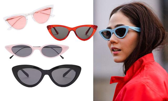 fbfe9216ff36 Solglasögonen som trendar just nu – här är 19 modeller av cat eye!