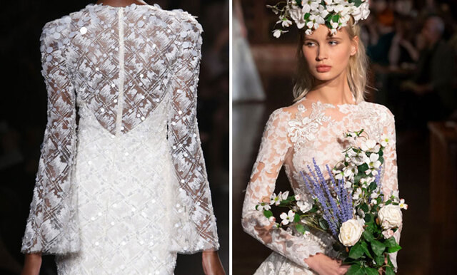 Här är de 27 finaste bröllopsklänningarna från Bridal Fashion Week 2018