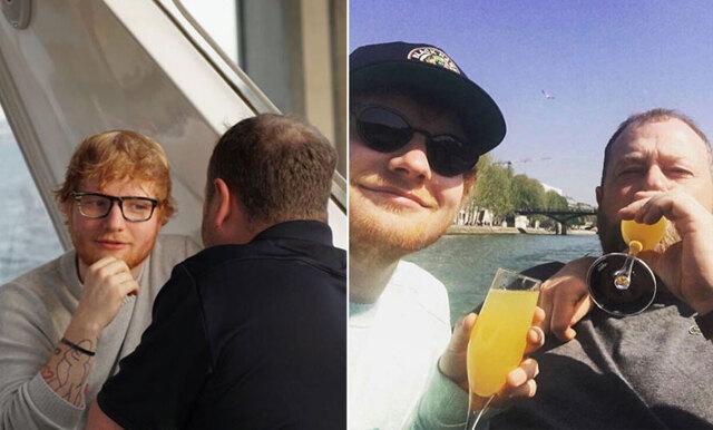 Ed Sheerans och hans livvakts bromance gör Instagramsuccé!