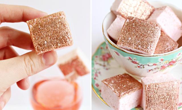 Rosé + glitter = världens vackraste marshmallow!