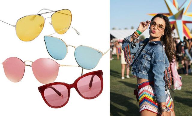 Stick ut i mängden och haka på trenden – här är 26 solglasögon med färgat glas!
