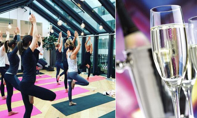 Nu kan du kombinera två av livets största njutningar - cava och yoga!