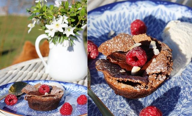 Glutenfria chokladfondanter sätter pricken över i:et på middagsbjudningen