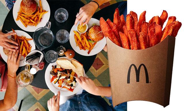Nu hittar du sötpotatispommes på McDonalds – som vi har längtat!
