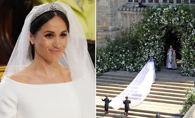 Meghan Markle sa ja till prins Harry – i en underbar vit klänning!