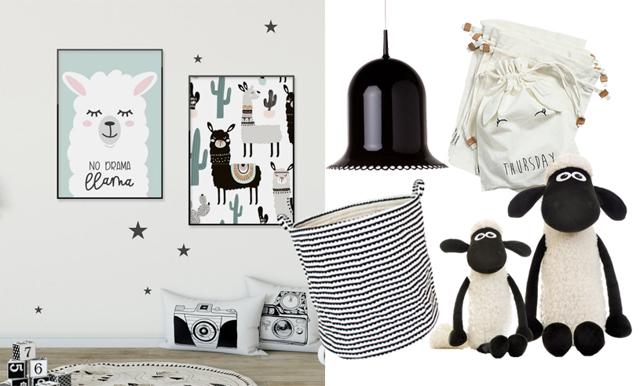 Svart, vitt och grafiskt – så fångar du den coola stilen i barnrummet!