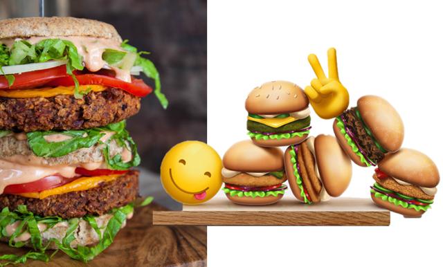 Nu finns vegoburgare som emojis – och vi älskar det!