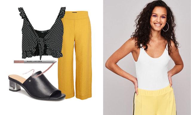Så stylar du de vida byxorna – inspireras av 3 outfits